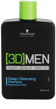 Schwarzkopf Professional [3D] MEN shampoing nettoyant en profondeur